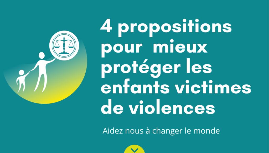 4 propositions pour mieux protéger les enfants victimes de violences